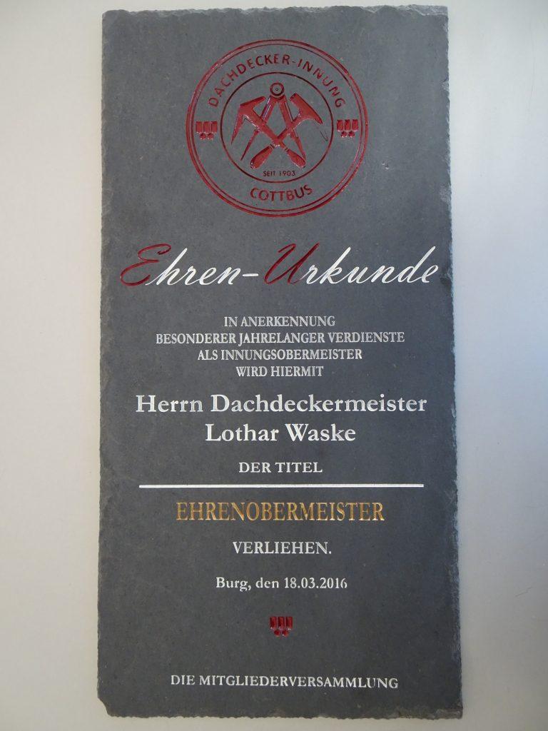 dachdecker cottbus ehrenobermeister